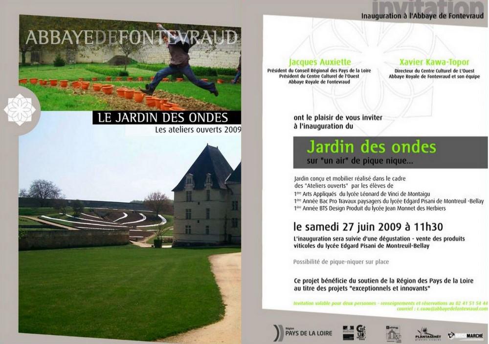 invitation Fontevraud 27 juin
