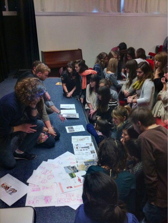 Les étudiants du BTS présentent la section aux élèves de Montaigu